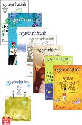 Combo Nguyễn Nhật Ánh 1 + Cây Chuối Non Đi Giày Xanh (Bìa Mềm) - Tặng Kèm Postcard + Lịch 2018 Để Bàn 1 Tờ (Số Lượng Có Hạn) (Bộ 8 cuốn)