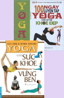 Combo Yoga Cho Sức Khỏe Vững Bền Và 100 Ngày Luyện Tập Yoga Cho Cơ Thể Khỏe Đẹp (Kèm DVD) (Bộ 2 Cuốn)