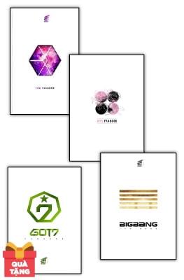 Combo GOT7 Fanbook + BigBang Fanbook + BTS Fanbook + Exo Fanbook - Tặng Kèm Poster (Bộ 4 Cuốn)