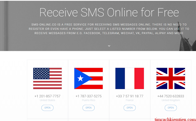 Receive SMS online for Free:https://sms-online.co/receive-free-sms