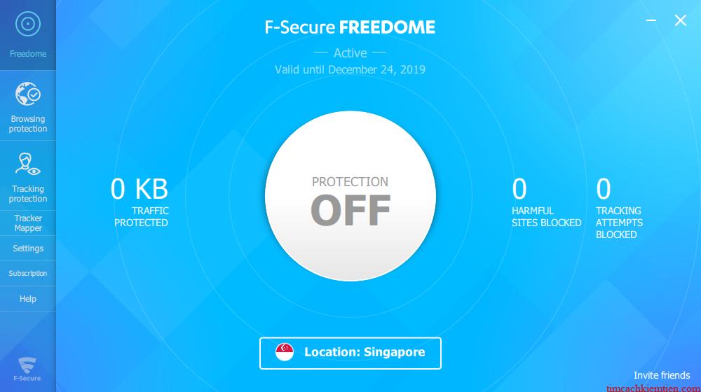 Miễn phí 1 năm F-Secure Freedome VPN 2020