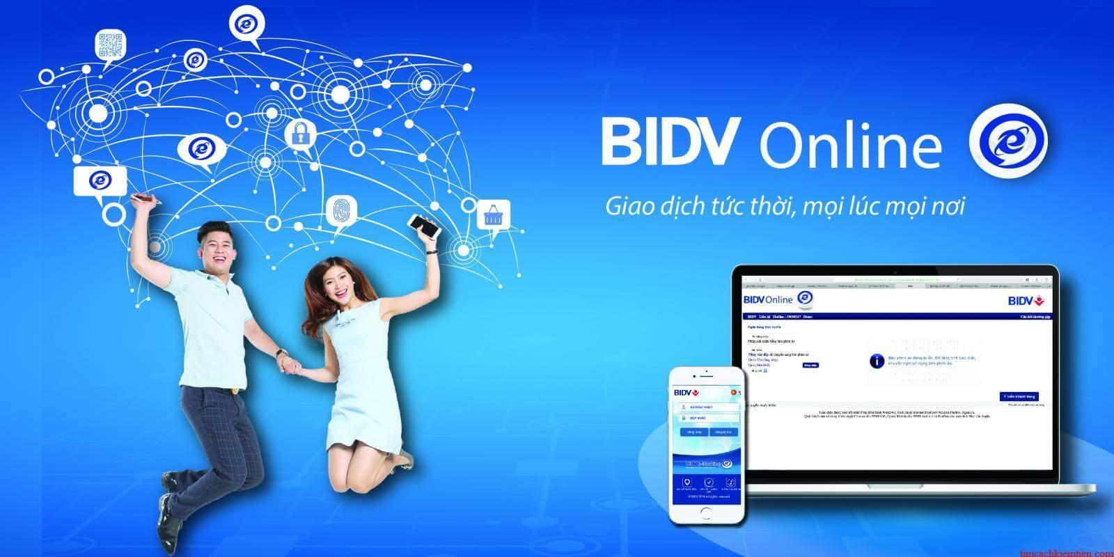 BIDV Online - Dịch vụ ngân hàng trực tuyến hàng đầu hiện nay